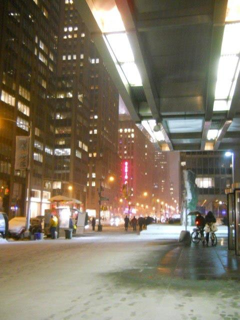 Avenue of the Americas in the Snow, March 18, 2013