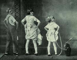 There's Gypsy Rose Lee, a/k/a Rose Louise Hovick, right in the middle.  Sister Baby June is to her right.