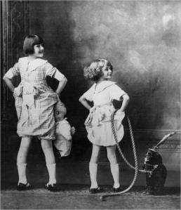 The real Gypsy Rose Lee, when she was Louise Hovick, and her sister, Dainty June Hovick, later known as June Havoc, in Vaudeville.