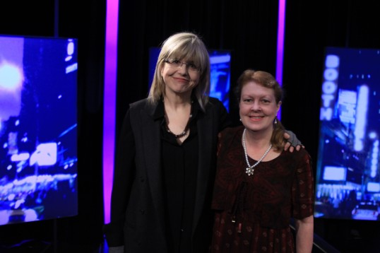 THEATER TALK host Susan Haskins and Me on the day we filmed the segment.