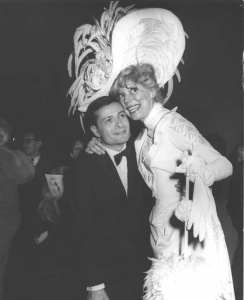Jerry Herman with Carol Channing.  He wrote the music and lyrics to her biggest hit, HELLO DOLLY!