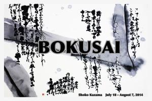 BOKUSAI: Japanese Calligrapher Shoko Kazama's First American Art Show!