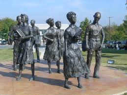 The Statue of The Little Rock Nine.  Fabulous!