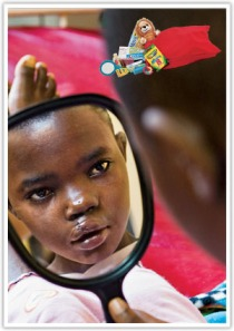 What a great holiday donation this is: to give a child restored after facial surgery the gift of their first mirror!
