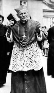 """Cardinal Karol Józef Wojtyła, who lived with a spirit of """"no guts, no glory,"""" long before he became Pope John Paul II."""