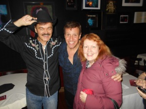 Randy Jones of The Village People, Stephen Sorrentino, and Me at Iridium.  Stephen Sorrentino's show is FANTASTIC!!!!!!