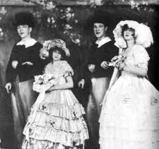 Proof of the pudding: Baby June appearing onstage with her sister, Louise, later known as Gypsy Rose Lee.