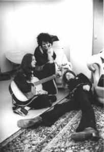 Shabtai Pisel, Faridi McFree and Bob Dylan.