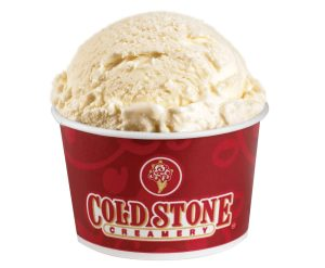 Coldstone Creamery RULES for having a sugar-free vanilla flavor among their ice cream choices!