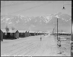 "Shameful!  Manzanar ""War Relocation Center,"" a/k/a concentration camp."