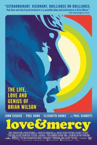 LOVE & MERCY: a movie about Brian Wilson and the Beach Boys.