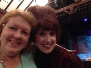 "Me with Catherine Ard in her ""Mrs. Lovett"" costume, right after the show."