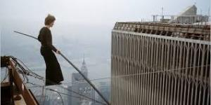 Joseph Gordon-Levitt as Philippe Petit during his walk.  Oh.  My.  God!