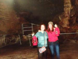 Me with Karen Underwood, lanterns in hand, in Marvel Cavel