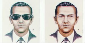 Sketch made from eyewitness descriptions of hijacker D.B. Cooper. have YOU seen this man?