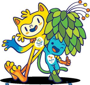 Vinicius and Tom, the 2016 Olympics Mascots who are dedicated to bringing the world together!