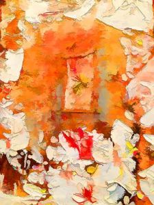 A beautiful study in orange by Sheila Smith.