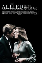Brad Pitt and Marion Cotillard in ALLIED.