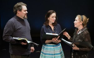 MILK & HONEY at the York Theater's Musicals in Mufti Series: Mark Delavan, Anne Runolfsson, and the hilarious Alix Korey.
